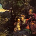 The Rest On The Flight Into Egypt by Dossi Dosso