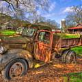 The Resting Place 1947 Dodge Dump Truck Georgia Farm Art by Reid Callaway