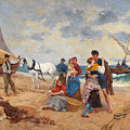 The Return Of Fishermen by Francesco Miralles Galup