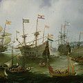 The Return To Amsterdam Of The Second Expedition To The East Indies by Andries van Eertvelt