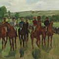 The Riders, 1885 by Edgar Degas