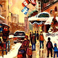 The Ritz Carlton Montreal Streetscene by Carole Spandau