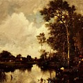 The River by Dupre Jules