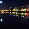 The River Liffey Night Romance by Alex Art and Photo