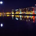 The River Liffey Night Romance V2 by Alex Art and Photo