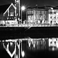 The River Liffey Reflections Bw by Alex Art and Photo