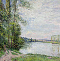 The Riverside Road From Veneux To Thomery by Alfred Sisley