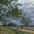 The Road From Versailles To Louveciennes by Alfred Sisley