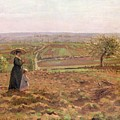 The Road To Rouen by Camille Pissarro
