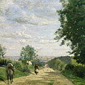 The Road To Sevres by Jean Baptiste Camille Corot