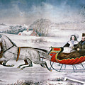 The Road-winter, 1853 by Granger