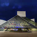 The Rock And Roll Hall Of Fame At Dusk by Cityscape Photography