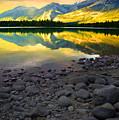 The Rockies Reflected At Lake Annettee by Tara Turner