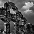 The Roman Aqueduct At Aspendos, Turkey.    Black And White by David Lyons