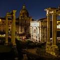 The Roman Forum At Night by Marilyn Burton