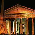 The Roman Pantheon At Night by Andrea Mazzocchetti