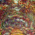 The Rose Path Giverny by Claude Monet
