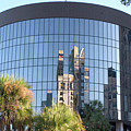 The Round Building In Orlando by Carl Purcell