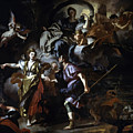 The Royal Hunt Of Dido And Aeneas by Francesco Solimena