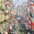 The Rue Montorgueil by Claude Monet