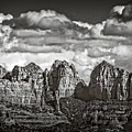 The Rugged Red Rocks In Black And White  by Saija Lehtonen