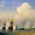 The Russo Swedish Sea War Near Kronstadt In 1790  by Aleksei Petrovich Bogolyubov