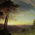The Sacramento River Valley  by Albert Bierstadt
