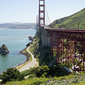 The San Francisco Golden Gate Bridge Dsc6146long by Wingsdomain Art and Photography