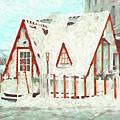 The Santa House Of Winona Minnesota Digital Painting by Kari Yearous