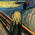 The Scream Flame Tree Edition by Edvard Munch