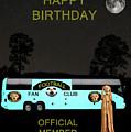 The Scream World Tour Football Tour Bus Happy Birthday by Eric Kempson
