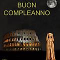 The Scream World Tour Rome Happy Birthday Italian by Eric Kempson