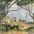 The Sea At L Estaque by Paul Cezanne