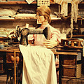 The Seamstress At Work by Priscilla Burgers