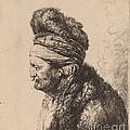 The Second Oriental Head by Rembrandt Van Rijn And Studio Of Rembrandt Van Rijn After Jan Lievens