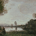 The Seine At Chatou by Jean-Baptiste-Camille Corot