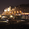 The Seine At Night by Mauverneen Blevins