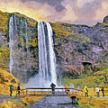 The Seljalandsfoss Waterfall In October by Digital Photographic Arts