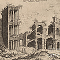 The Septizonium And The Colosseum by Hieronymus Cock