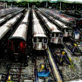 The Seven Train Yard Queens Ny by Iowan Stone-Flowers