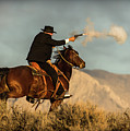 The Sharp Shooter Western Art By Kaylyn Franks by Kaylyn Franks