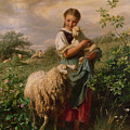 The Shepherdess by Johann Baptist Hofner