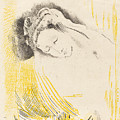 The Shulamite  by Odilon Redon