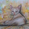 The Sitting Cat by Sukalya Chearanantana