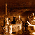 The Snake Oil Shop - Sepia by Olivier Le Queinec