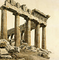 The South-east Corner Of The Parthenon. Athens by Giovanni Battista Lusieri