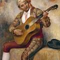 The Spanish Guitarist by Pierre Auguste Renoir