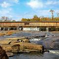 The Square Dance Venue Watson Mill Covered Bridge by Reid Callaway