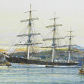 The Square-rigged Australian Clipper Old Kensington Lying On Her Mooring by Mountain Dreams