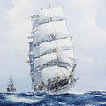 The Square-rigged Wool Clipper Argonaut Under Full Sail by Mountain Dreams